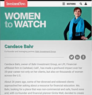 InvestmentNews, Women to Watch