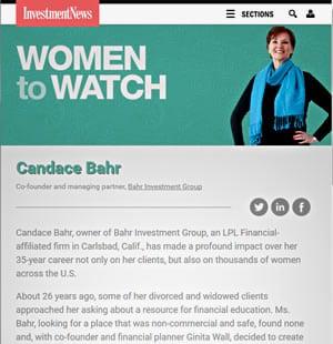 InvestmentNews, Women to Watch